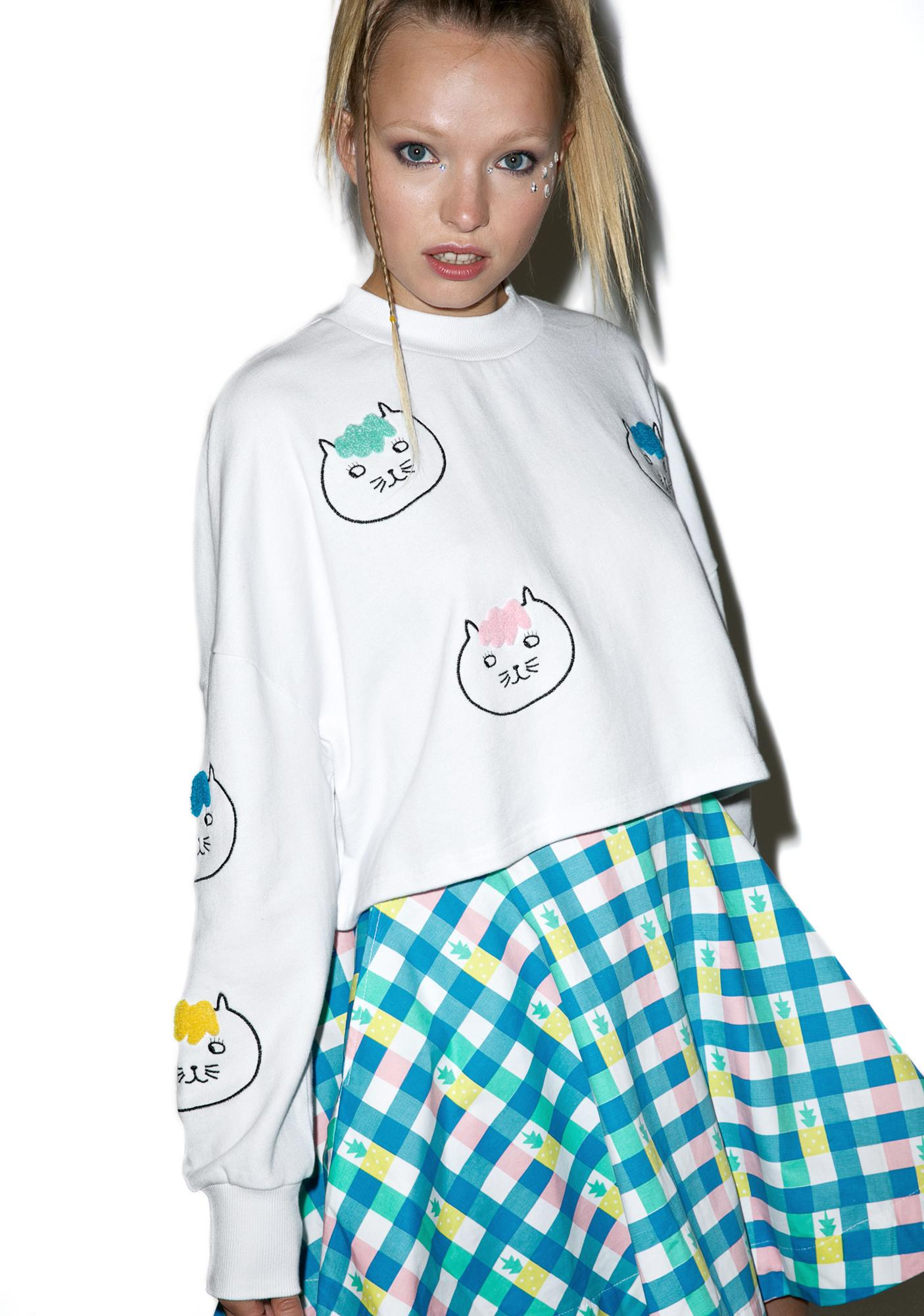 Lazy Oaf Hairy Cat Sweatshirt