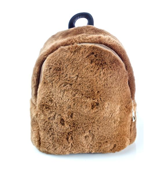 Teddy Faux Fur Backpack