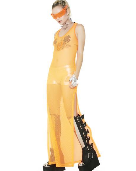 Rocker Mesh Maxi Dress