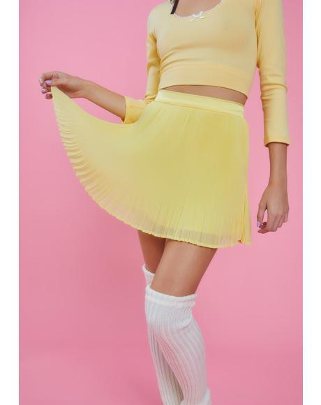 Honeymoon Avenue Chiffon Skirt