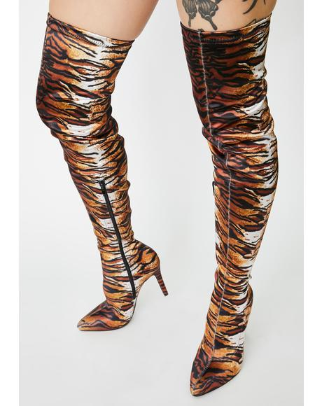 Jungle Club Thigh High Boots