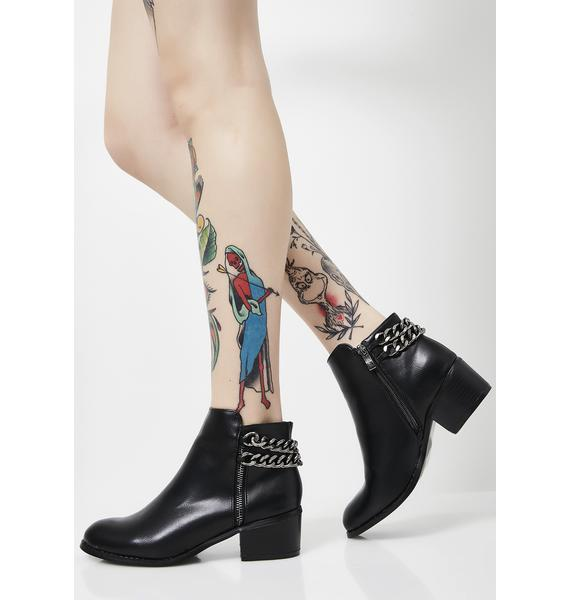 Miss Fire Chain Booties