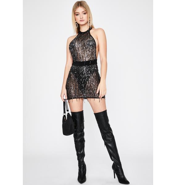 Bombshell Nights Sequin Dress