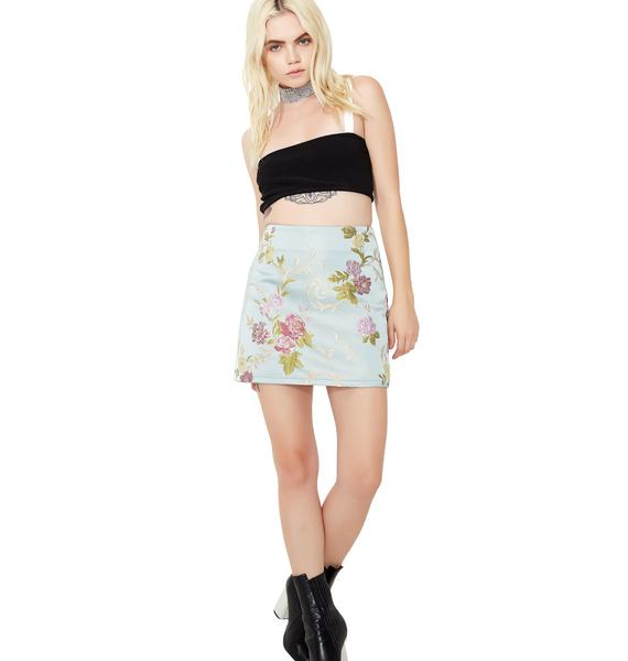 A Stitch In Time Mini Skirt