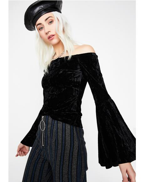 Under Your Spell Velvet Top