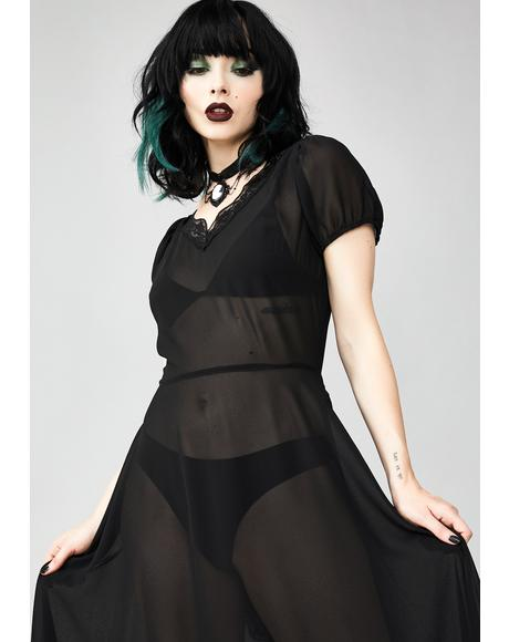 Sheer Deadication Maxi Dress