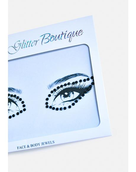 Black Rhinestone Eye Gem Pack