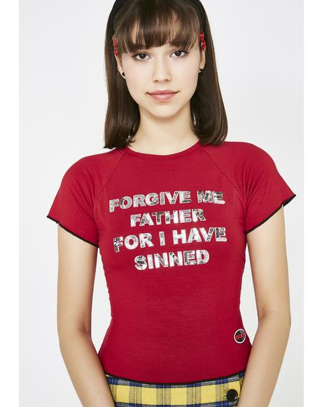 Forgive Me Father Baby Tee