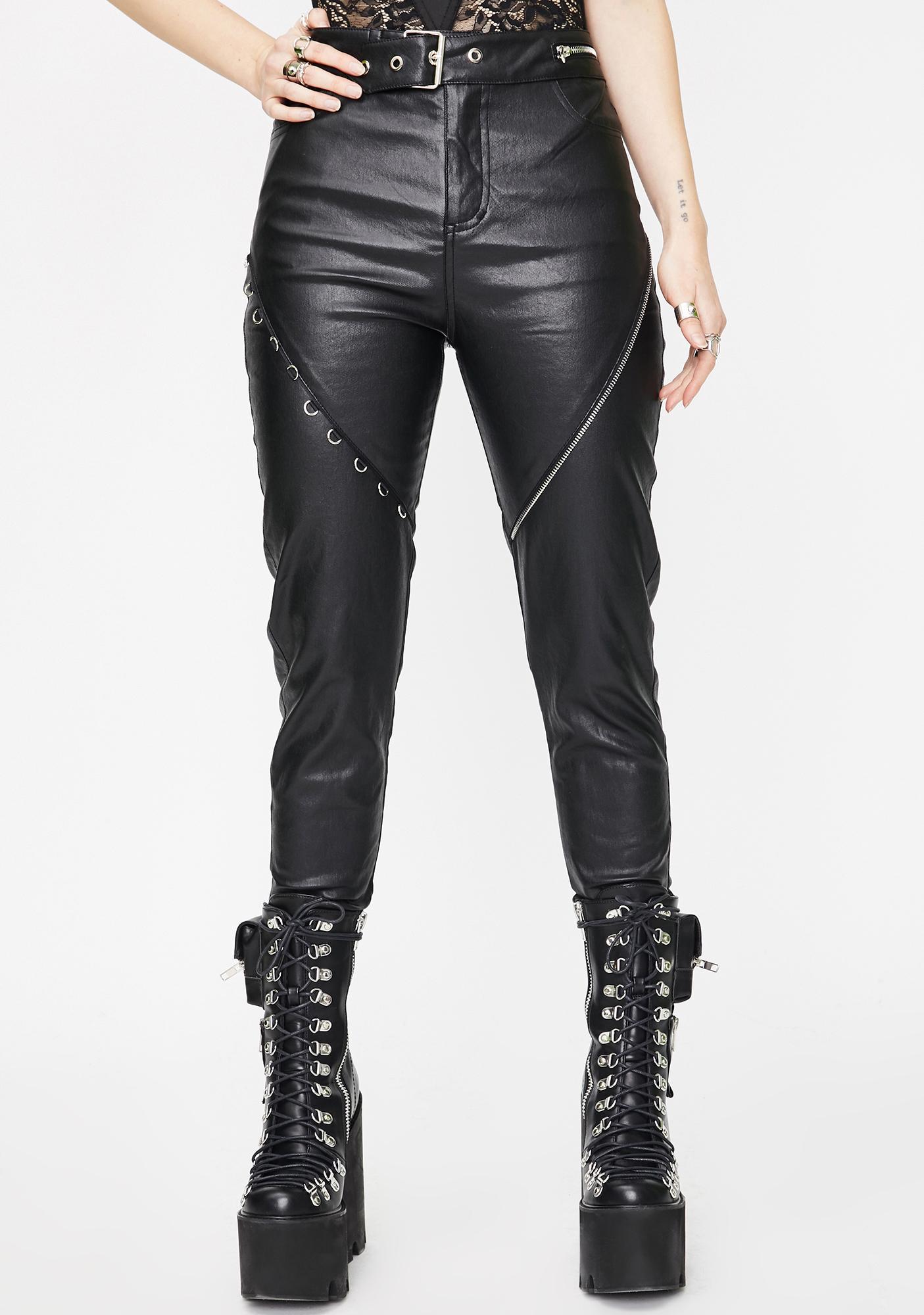 a few days away best shoes new styles Punk Rave Heavy Industrial Vegan Leather Pants   Dolls Kill