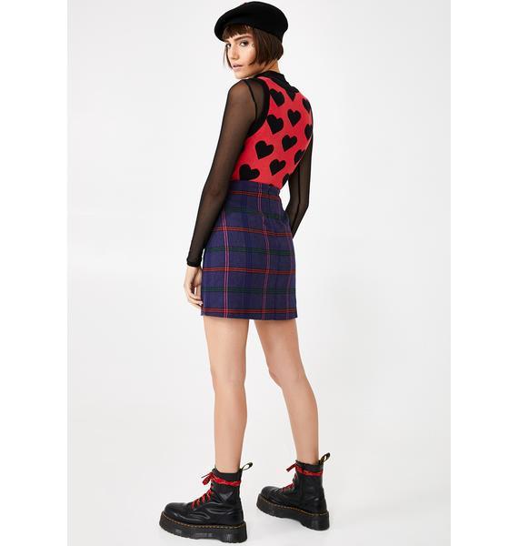 Lazy Oaf Getting Plaid Kilt Skirt