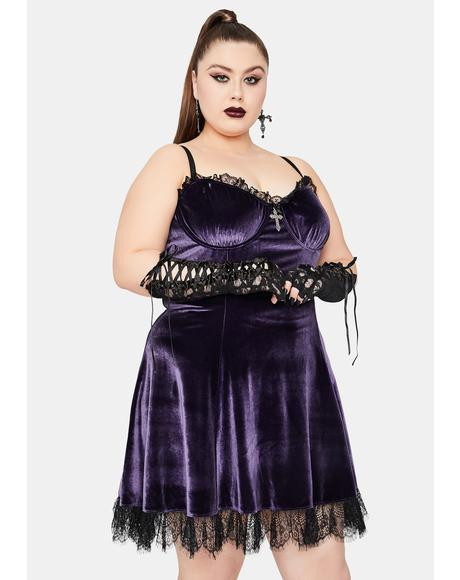 Violet Her Blind Faith Velvet Dress