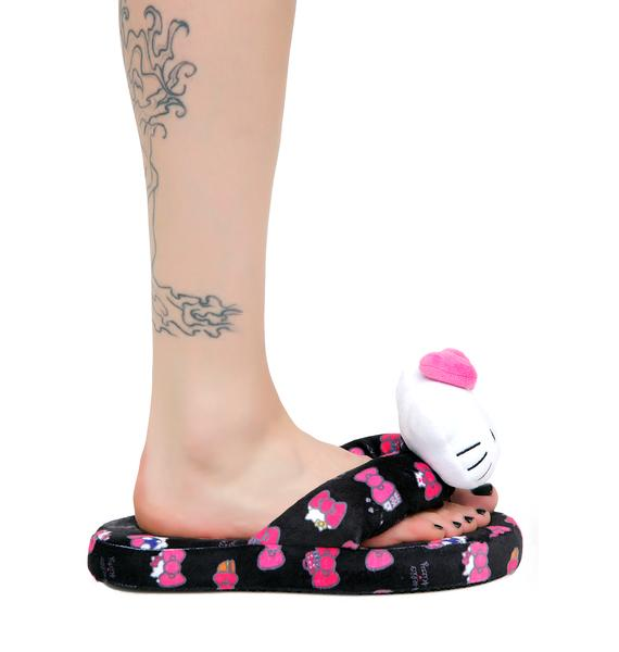Sanrio Hello Kitty Hide & Seek Bath Slippers