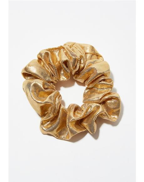 Golden Busta Move Scrunchie