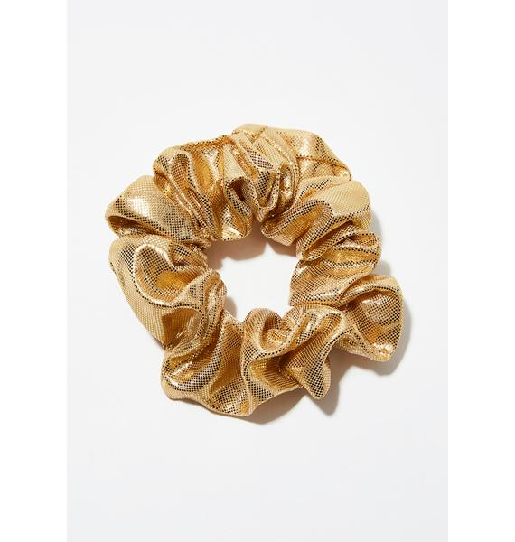 Golden Busta Move Scrunchie