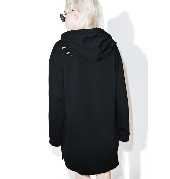 Easy Way Out Longline Hoodie
