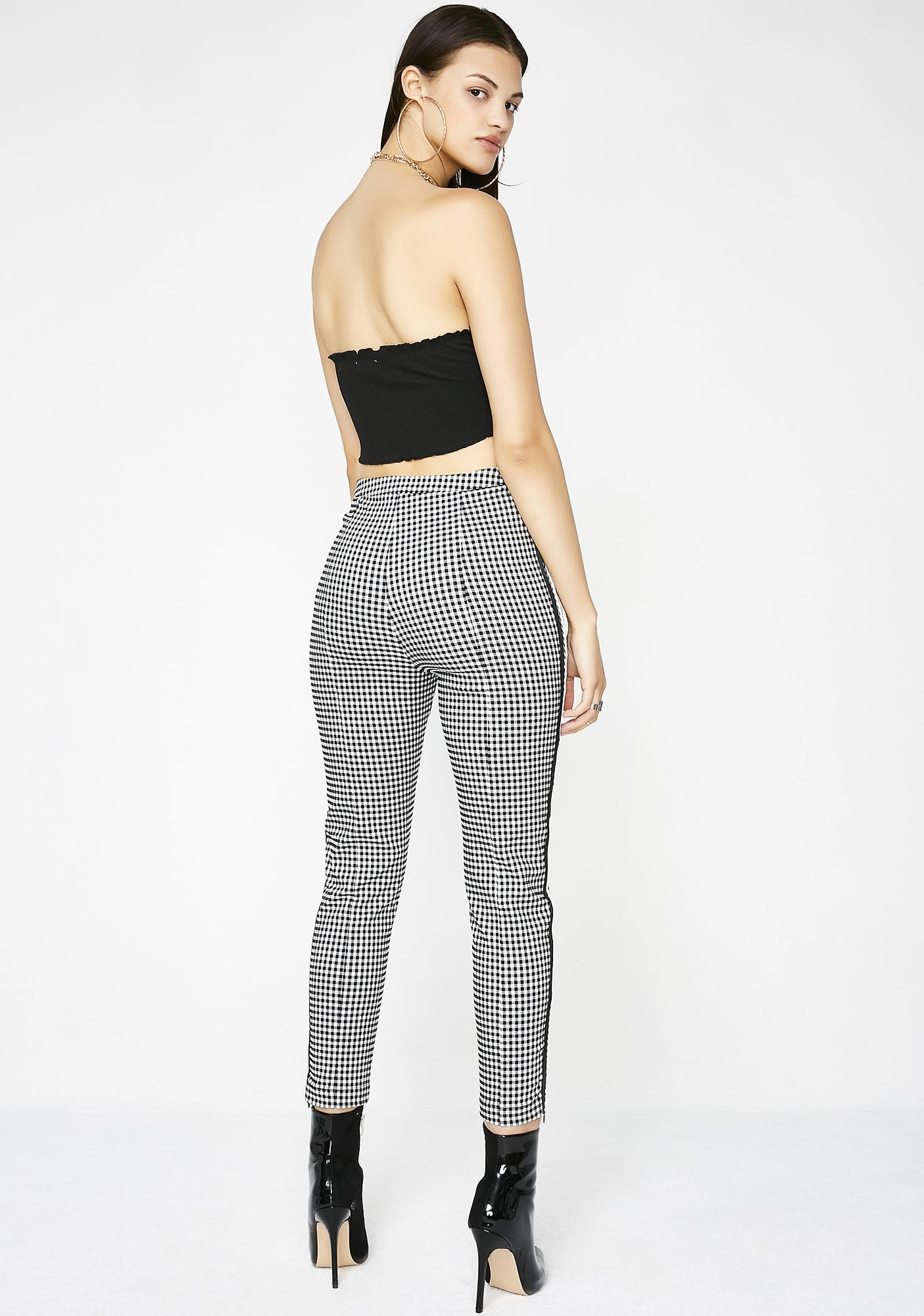 Nowhere Fast Gingham Pants