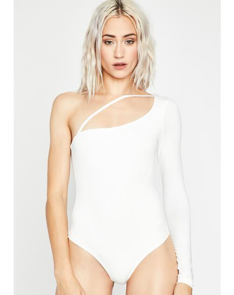 Unsubscribed One-Shoulder Bodysuit