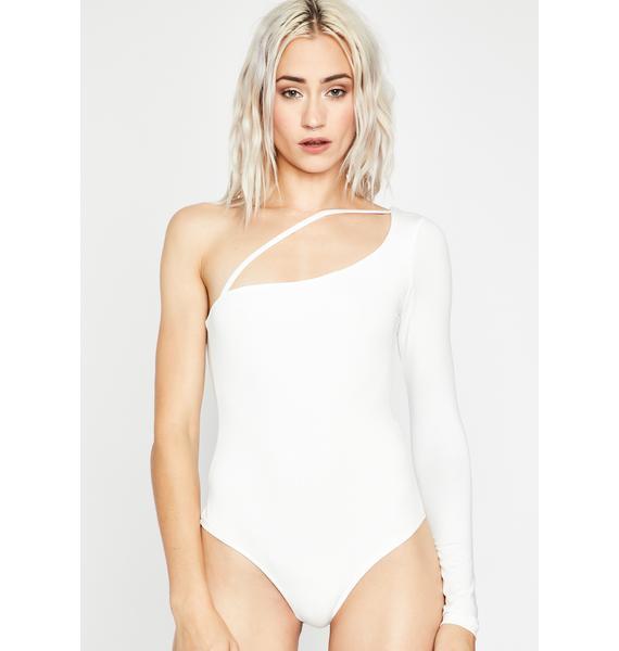 Unsubscribed One-Shoulder Bodysuit