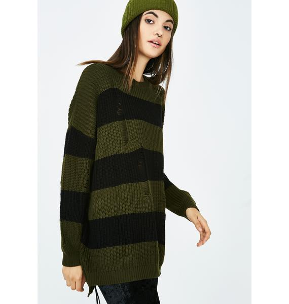 Chill Mode Stripe Sweater