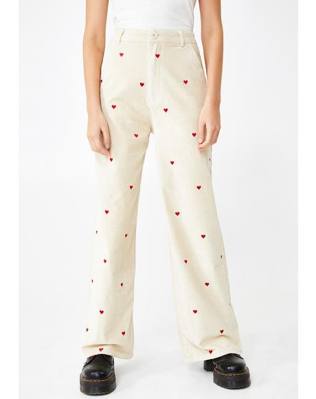 Little Heart Corduroy Trousers