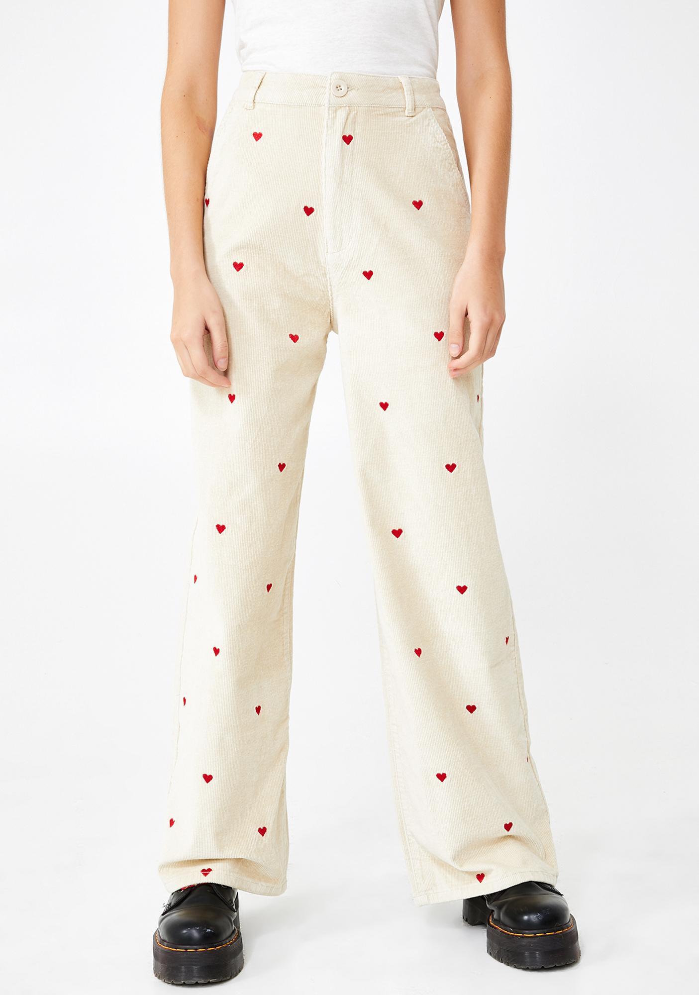 Lazy Oaf Little Heart Corduroy Trousers
