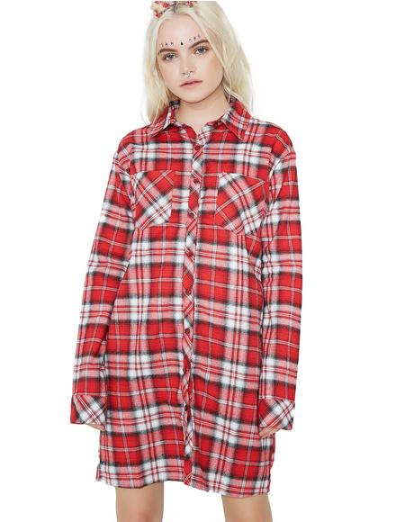 Past The Limit Flannel Top
