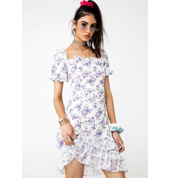 Glamorous Mixed Bloom Frill Dress