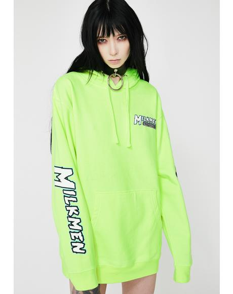 Neon Green She Devil Pullover Hoodie
