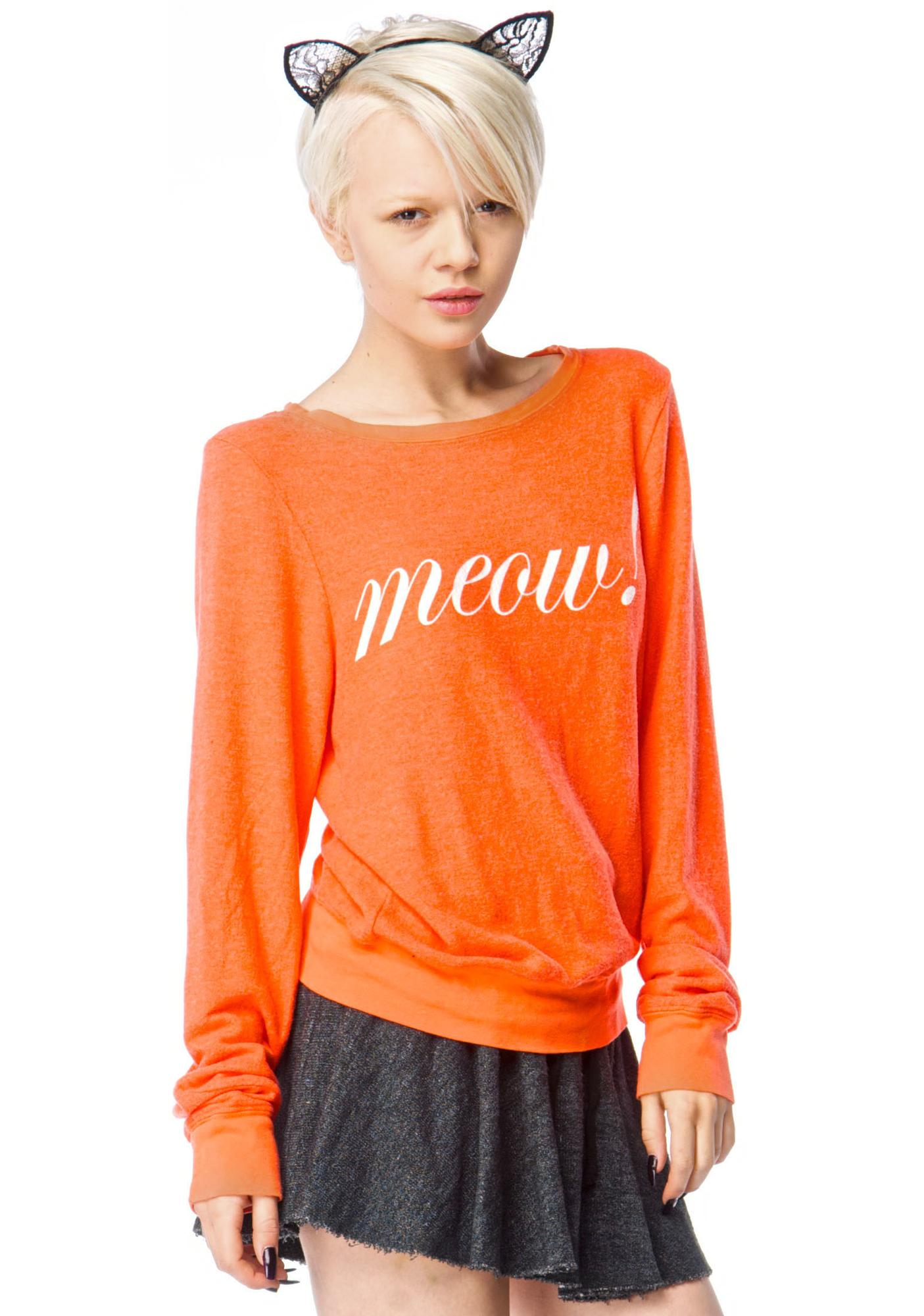 Wildfox Couture Meow! Baggy Beach Jumper