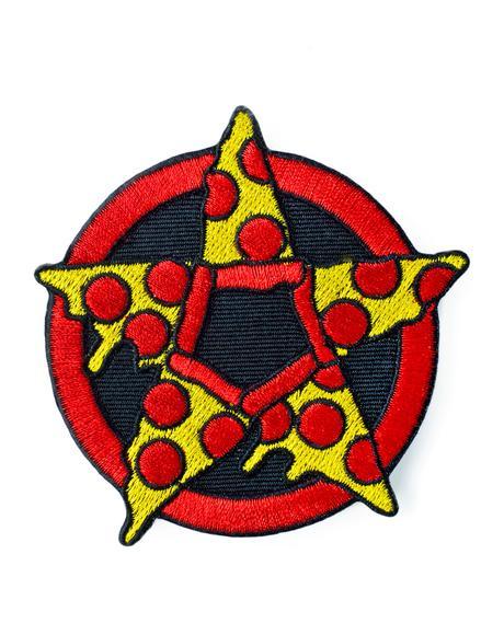 Pizza Pentagram Patch
