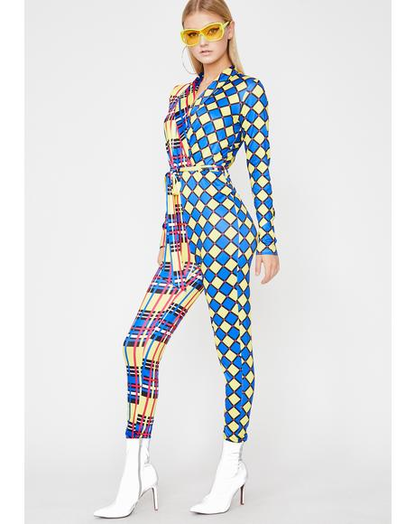 Harlequin Hunny Plaid Jumpsuit