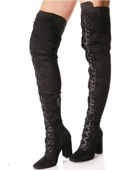 Dark Love Story Thigh-High Boots