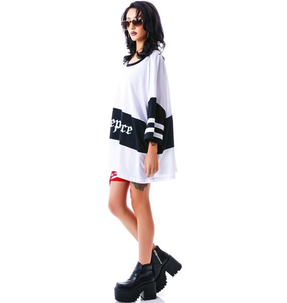 Dimepiece So Gangster Chic Logo Oversized Tee