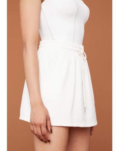 Ready Or Not Drawstring Mini Skirt