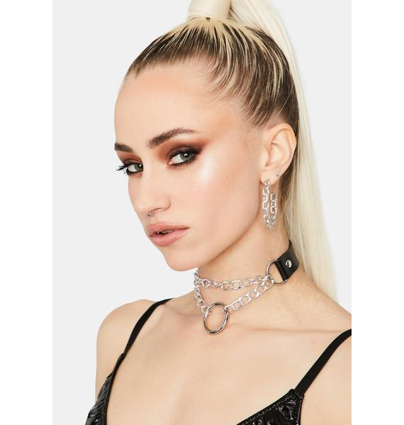 Noir Messing With You Chain Choker