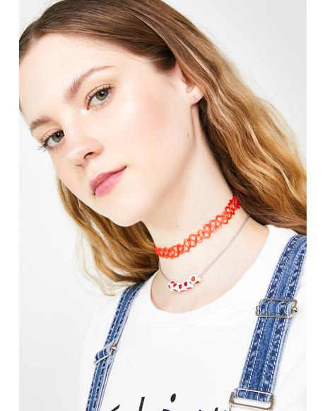 Gamble Romance Choker Set