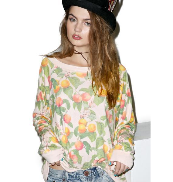 Wildfox Couture Georgia Peaches Kim's Sweater