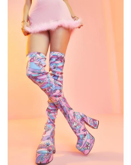 Blooming With Love Thigh High Boots