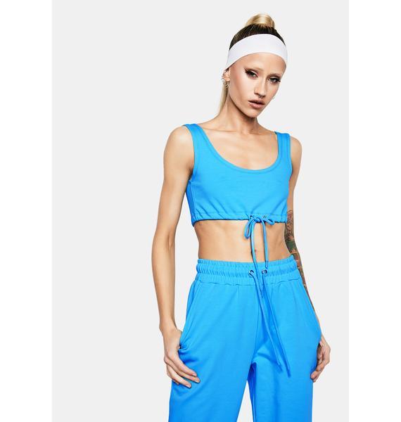 Club Exx Cyan Fairy Flurry Sweatpants Set