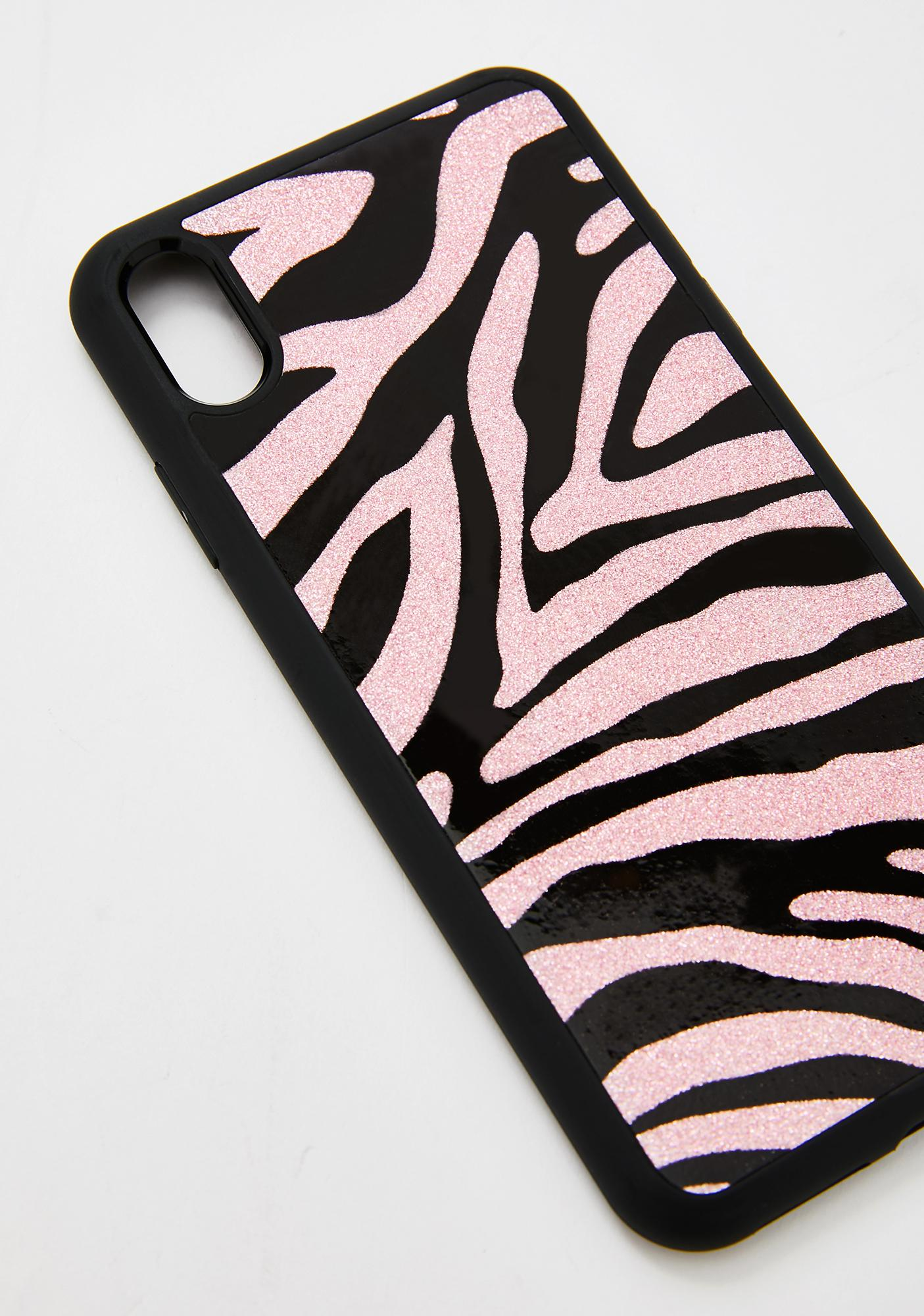 Georgia Mae Glitter Pink Zebra IPhone Case