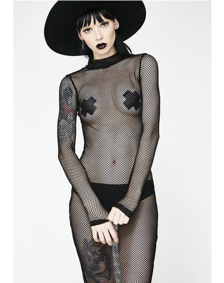 Wicked Wicked West Fishnet Dress
