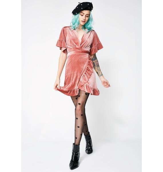 Feelin' Wavy Velvet Dress