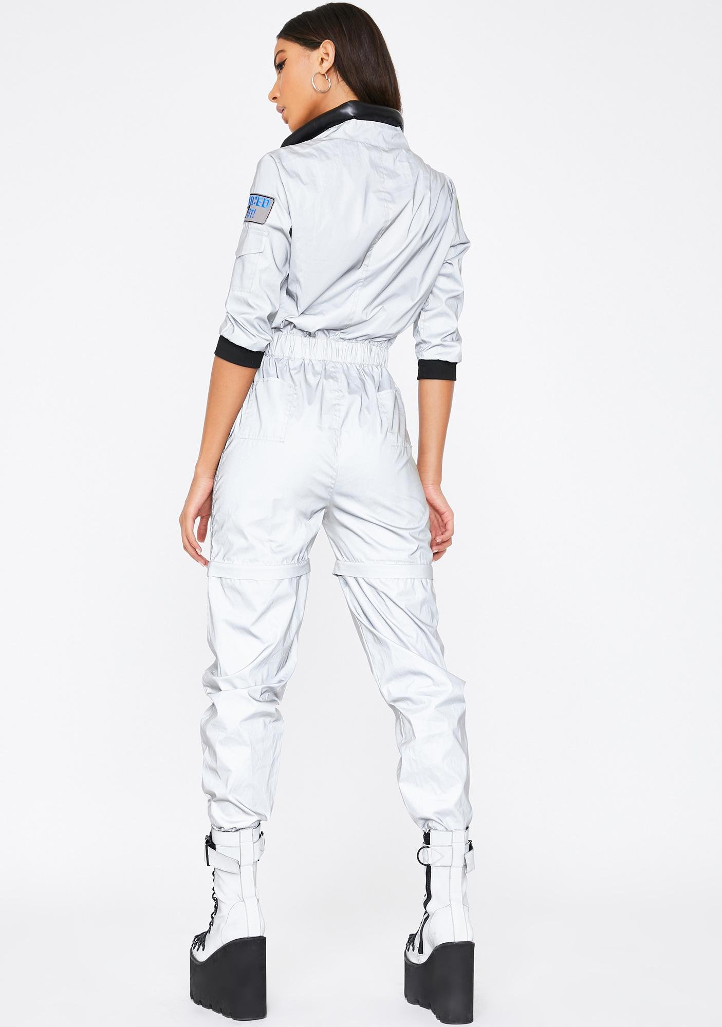 Dolls Kill NASA-TY Reflective Flight Suit Costume