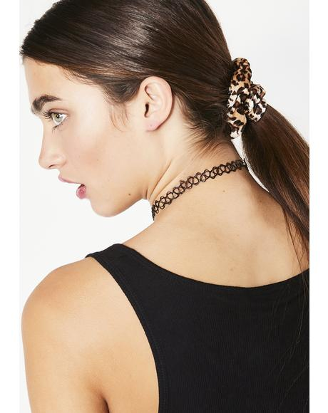 Flirty Fever Leopard Scrunchie