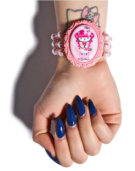 Gothic Lolita Pink Head Cuff Bracelet