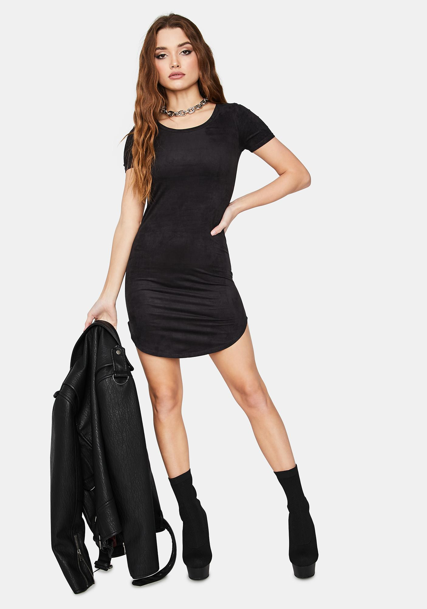 Born And Raised Babe Suede Mini Dress
