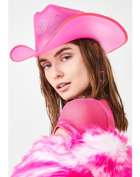 BeauPeep Pink Light Up Cowboy Hat