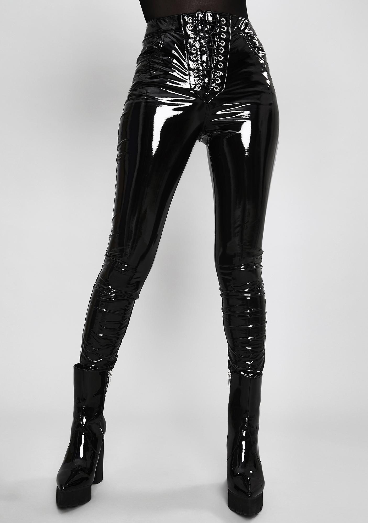 Widow Twisted Desire Vinyl Leggings