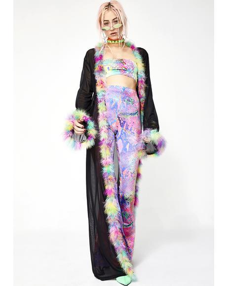 Mesh Maxi Kimono