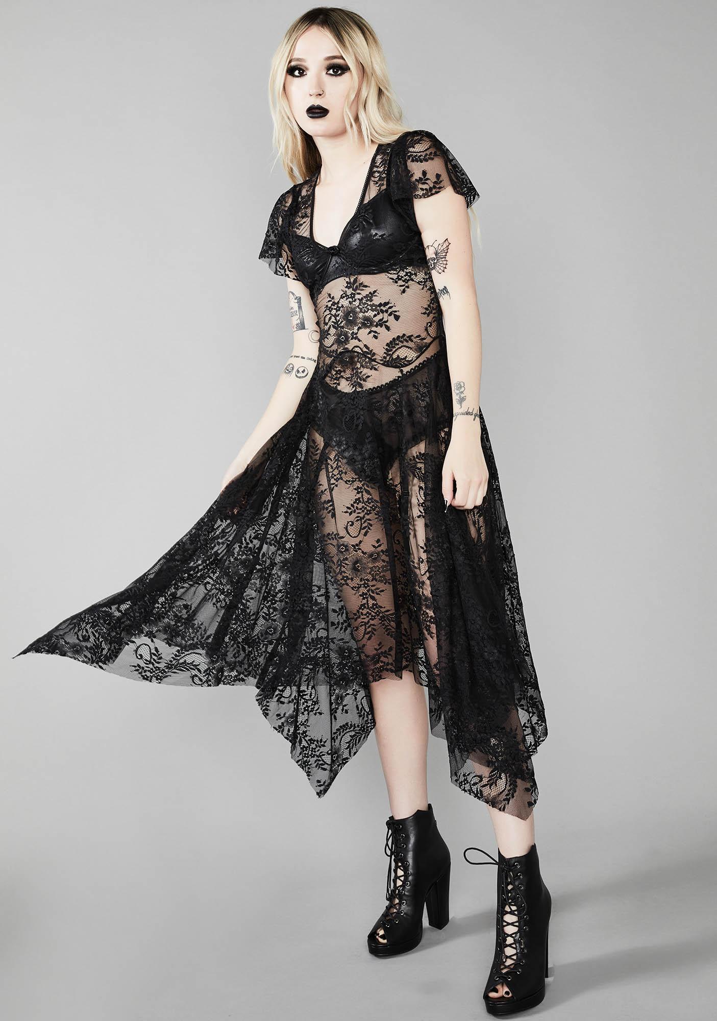 Widow Noir Dearly Departed Lace Dress